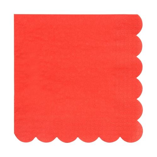Салфетки красные «Basic», бол.
