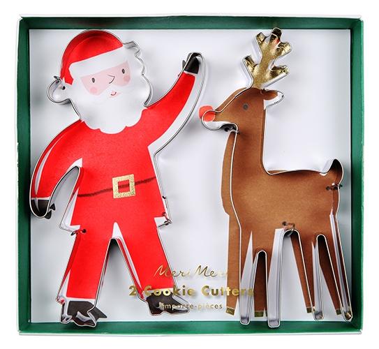 Формочки для печенья «Санта и олени»