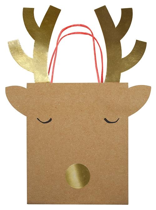 Пакеты для подарков «Северный олень», сред.