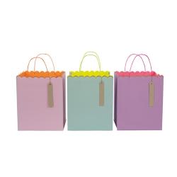 """Пакеты подарочные """"Пастель и неон"""", большие 132805"""